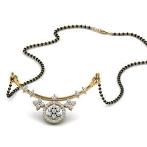 Antique Floral Diamond Mangalsutra